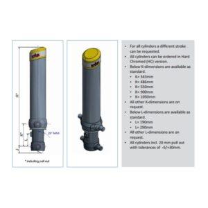 Фронтальный гидроцилиндр Hyva FC A129-4-05180-000- K0343