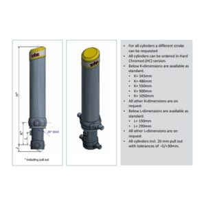 Фронтальный гидроцилиндр Hyva FC A137-4-04660-000-K0343