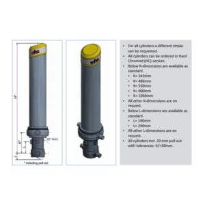 Фронтальный гидроцилиндр Hyva FC A129-3-03845-000-K0343-HD