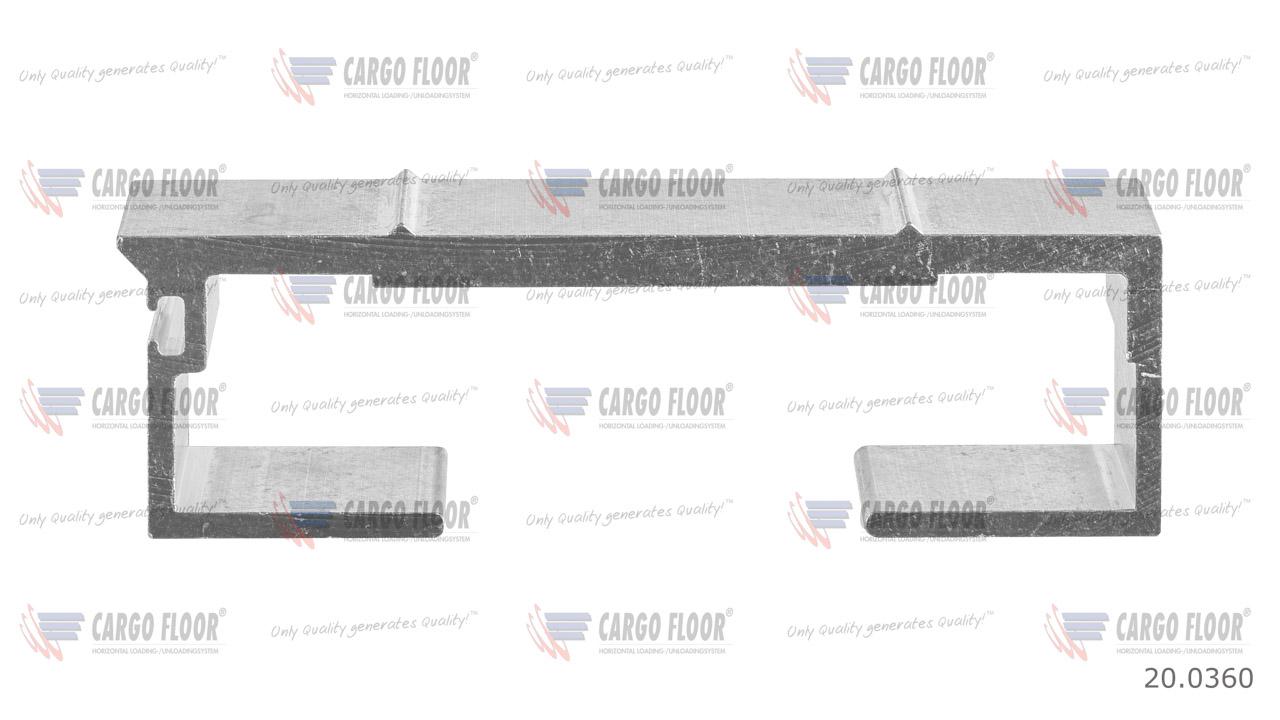 Алюминиевый профиль 6/112мм ребристый арт. CargoFloor 20.0360