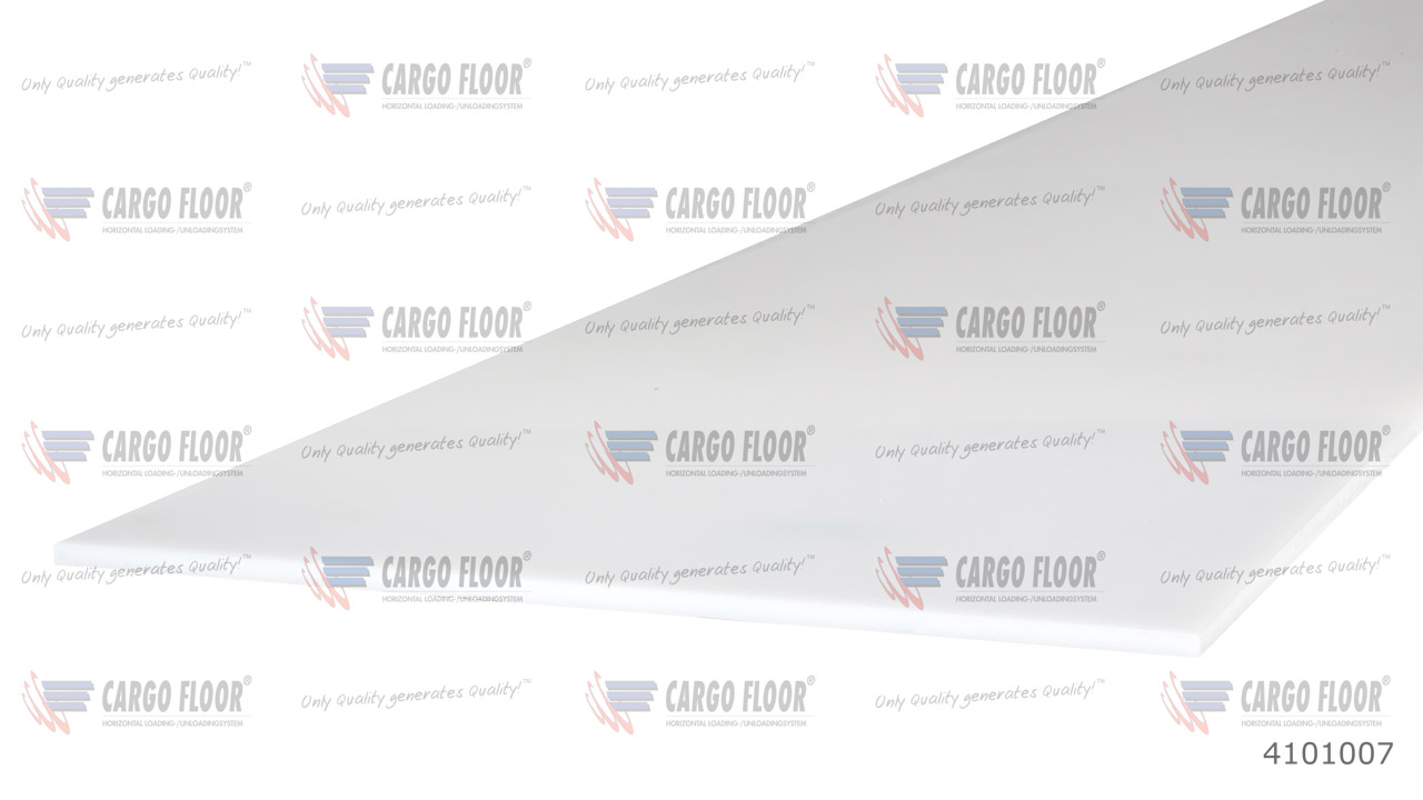 Пластиковая износостойкая плита для задних ворот прицепа, размером 2500 x 250 x 5 мм арт. CargoFloor 4101007