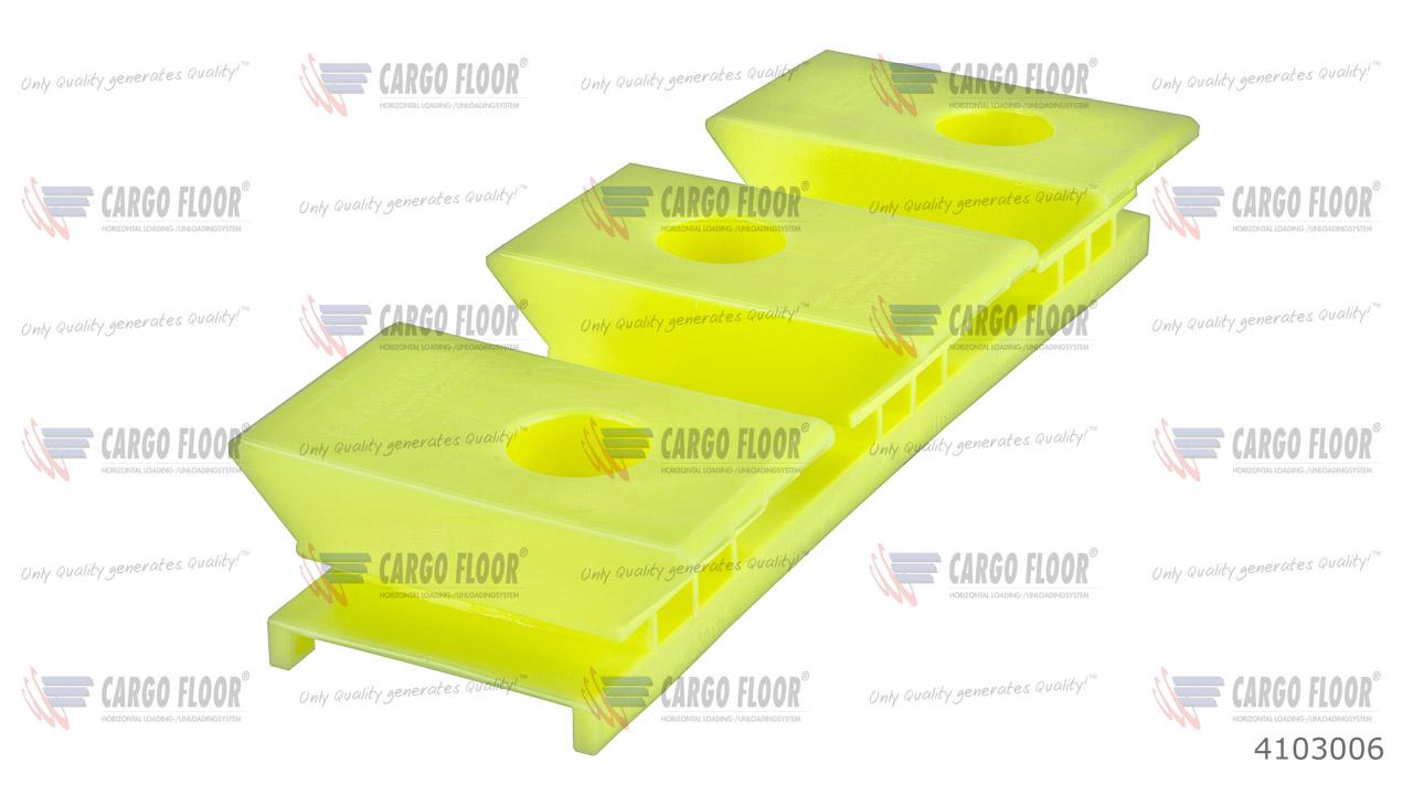 Пластиковый опорный блок 3/97 высота 32мм (Желтый / выступ) арт. CargoFloor 4103006