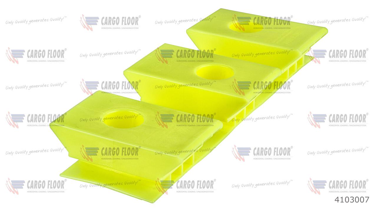 Пластиковый опорный блок 3/97 высота 32мм (Желтый / плоский) арт. CargoFloor 4103007
