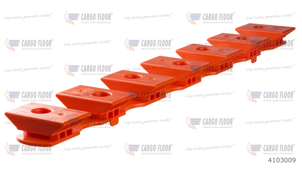 Пластиковая опорная пластина 7/112 высота 35мм (оранжевая) арт. CargoFloor 4103009