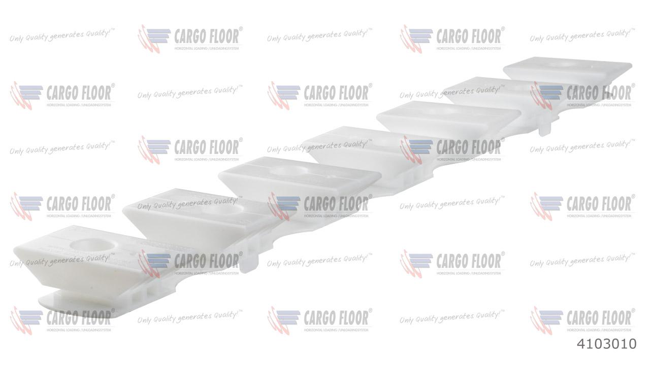 Пластиковая опорная пластина 7/112 высота 32 мм (белая) арт. CargoFloor 4103010