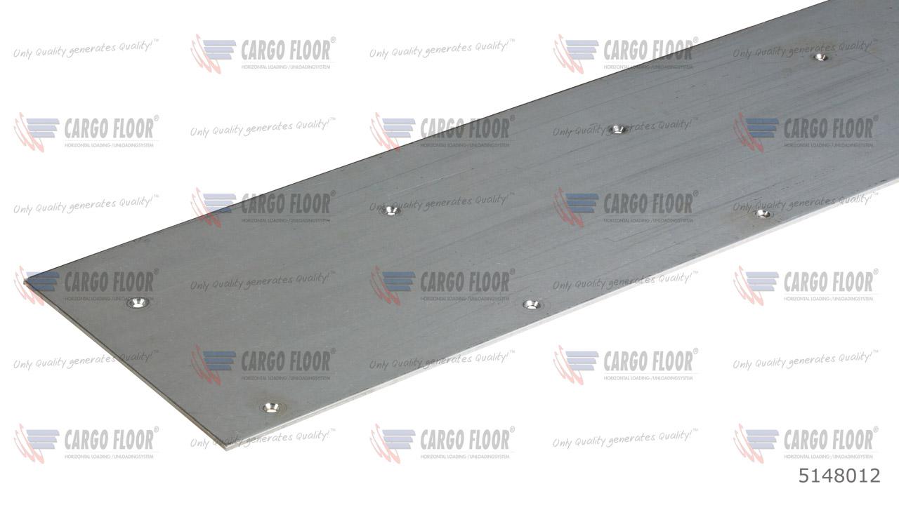 Износостойкая плита из нержавеющей стали для задних ворот прицепа, вкл. зенковку отверстий (22x6,8 mm), разм. 2.350x270x4мм арт. CargoFloor 5148012