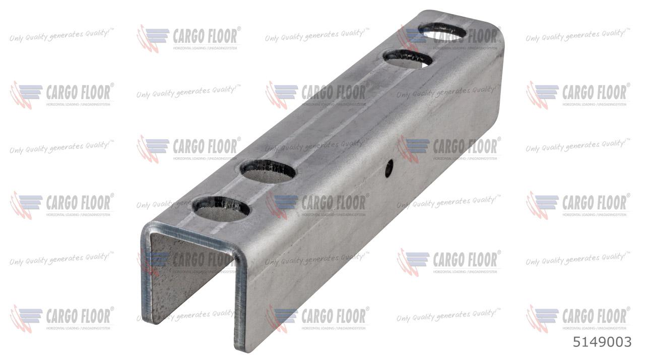 U-образный профиль для движущихся поперечин CF500 / CF100 (4x M12 / 200 мм) арт. CargoFloor 5149003