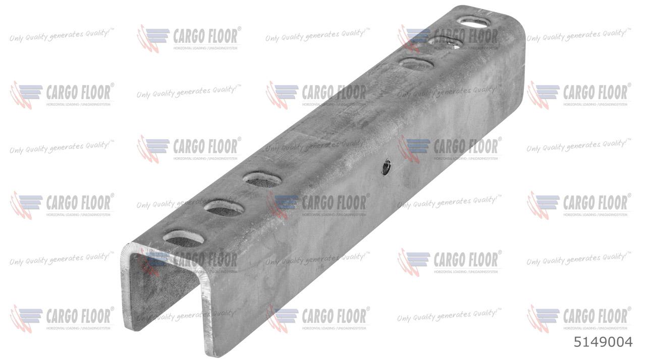 U-образный профиль для движущихся поперечин CF300 / CF150 (6x M10 / 240 мм) арт. CargoFloor 5149004
