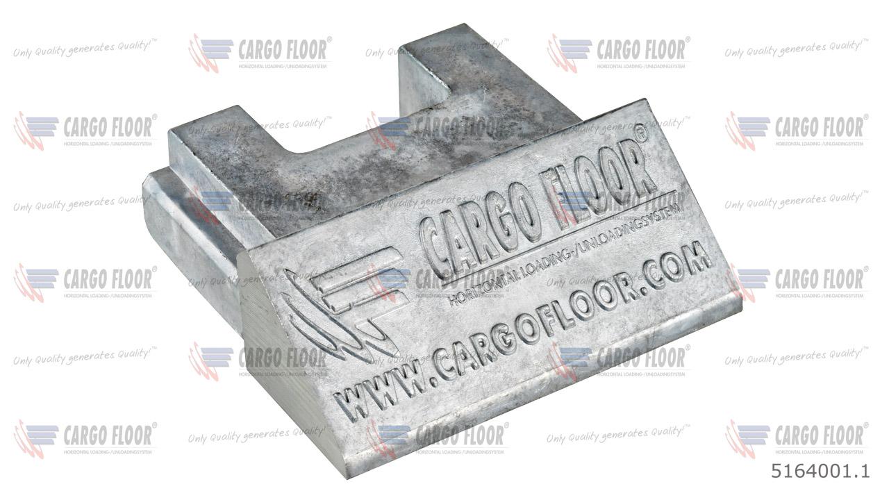 Алюминиевая заглушка для профиля 97мм арт. CargoFloor 5164001.1
