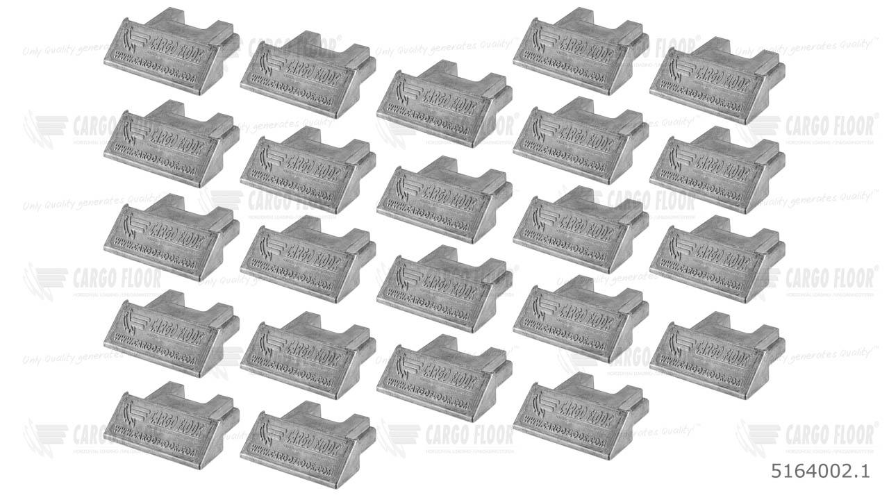 Алюминиевая заглушка для профиля 112мм арт. CargoFloor 5164002.1