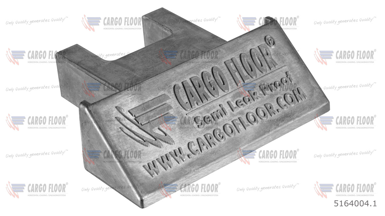 Алюминиевая заглушка для полугерметичного профиля 112мм арт. CargoFloor 5164004.1