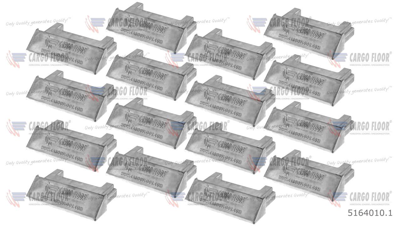 Алюминиевая заглушка для профиля 156,8 мм арт. CargoFloor 5164010.1