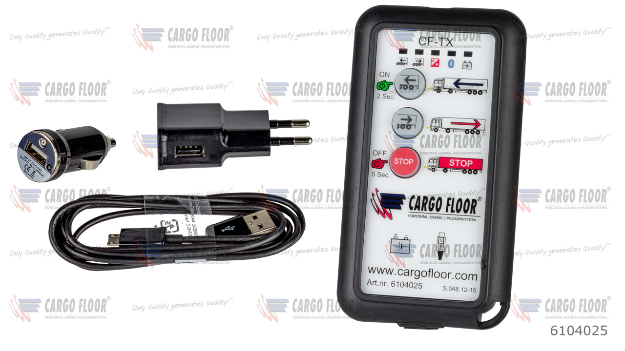 Беспроводной пульт дистанционного управления (CF TX) с 3 функциями (вкл. зарядное устройство USB 100-240VAC + автомобильное зарядное устройство + кабель для зарядного устройства) арт. CargoFloor 6104025