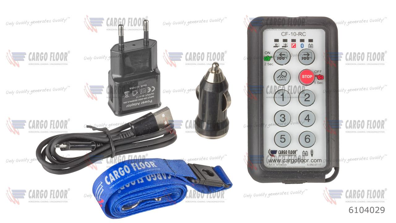 Беспроводной пульт дистанционного управления (CF TX) с 10 функциями (вкл. зарядное устройство USB 100-240VAC + автомобильное зарядное устройство + кабель для зарядного устройства+ главный шнур) арт. CargoFloor 6104029