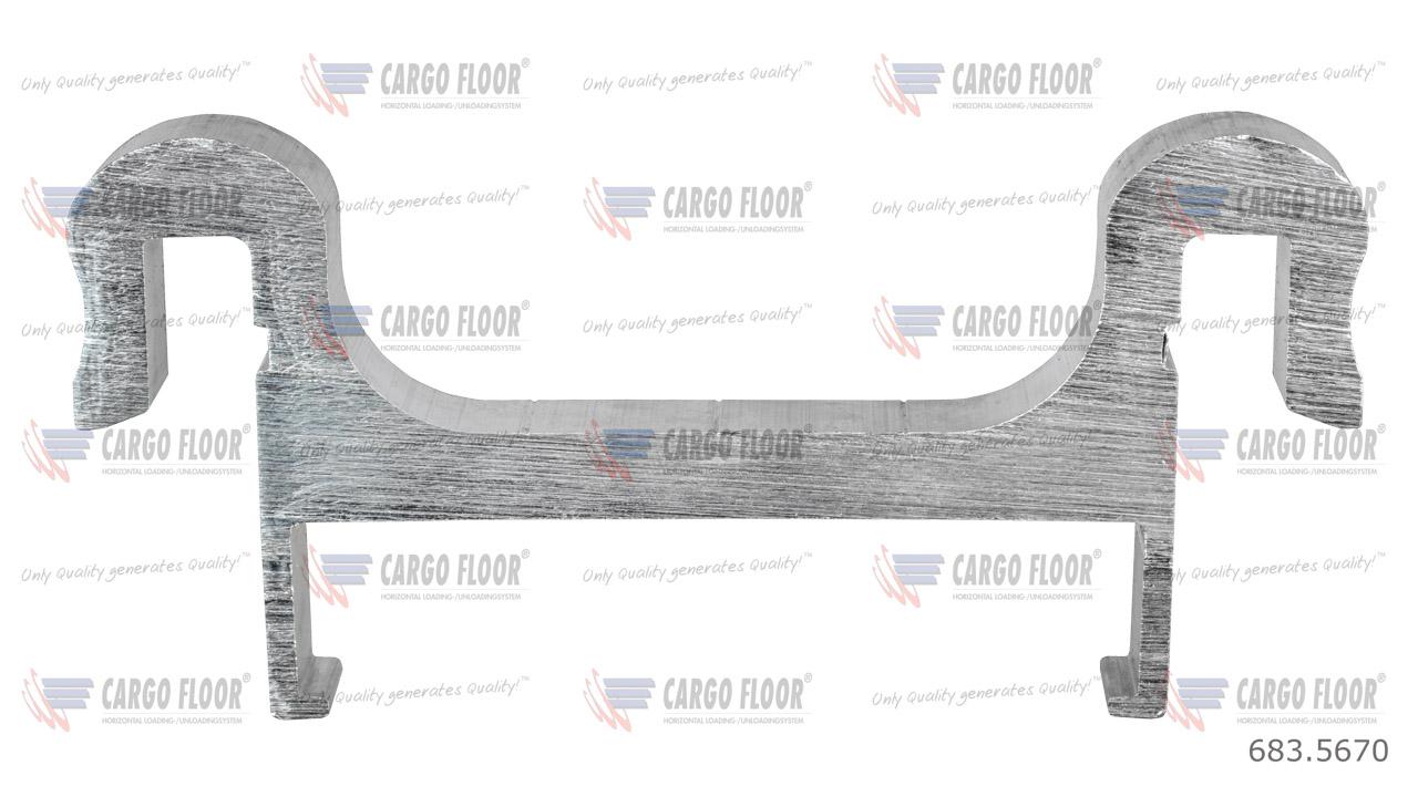 Алюм. защищенный шов 12/160 мм (двойной нахлест, верх)-XD (твердый сплав 7108T66) арт. CargoFloor 683.5670