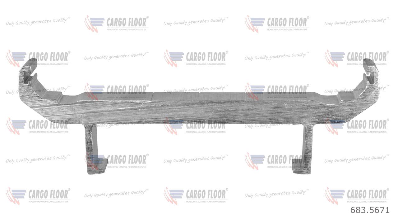 Алюм. защищенный шов 12/160 мм (двойная кромка, низ)-XD (твердый сплав 7108T66) арт. CargoFloor 683.5671