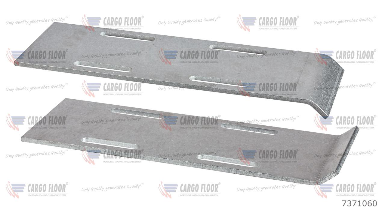 Алюминиевая противоизносная защитная планка 5 мм с отверстиями для сварки (112мм) арт. CargoFloor 7371060