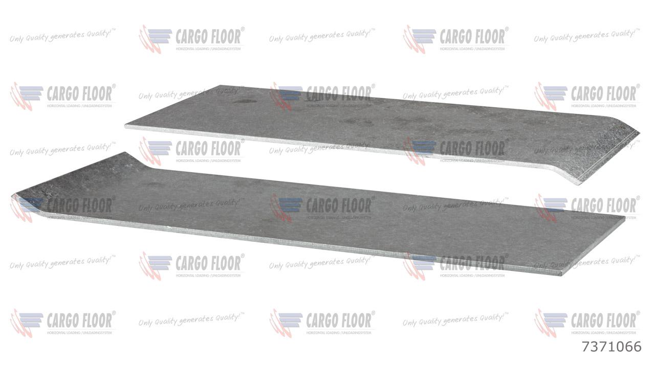 Алюминиевая противоизносная защитная планка 5 мм без отверстий для сварки (156,8мм) арт. CargoFloor 7371066