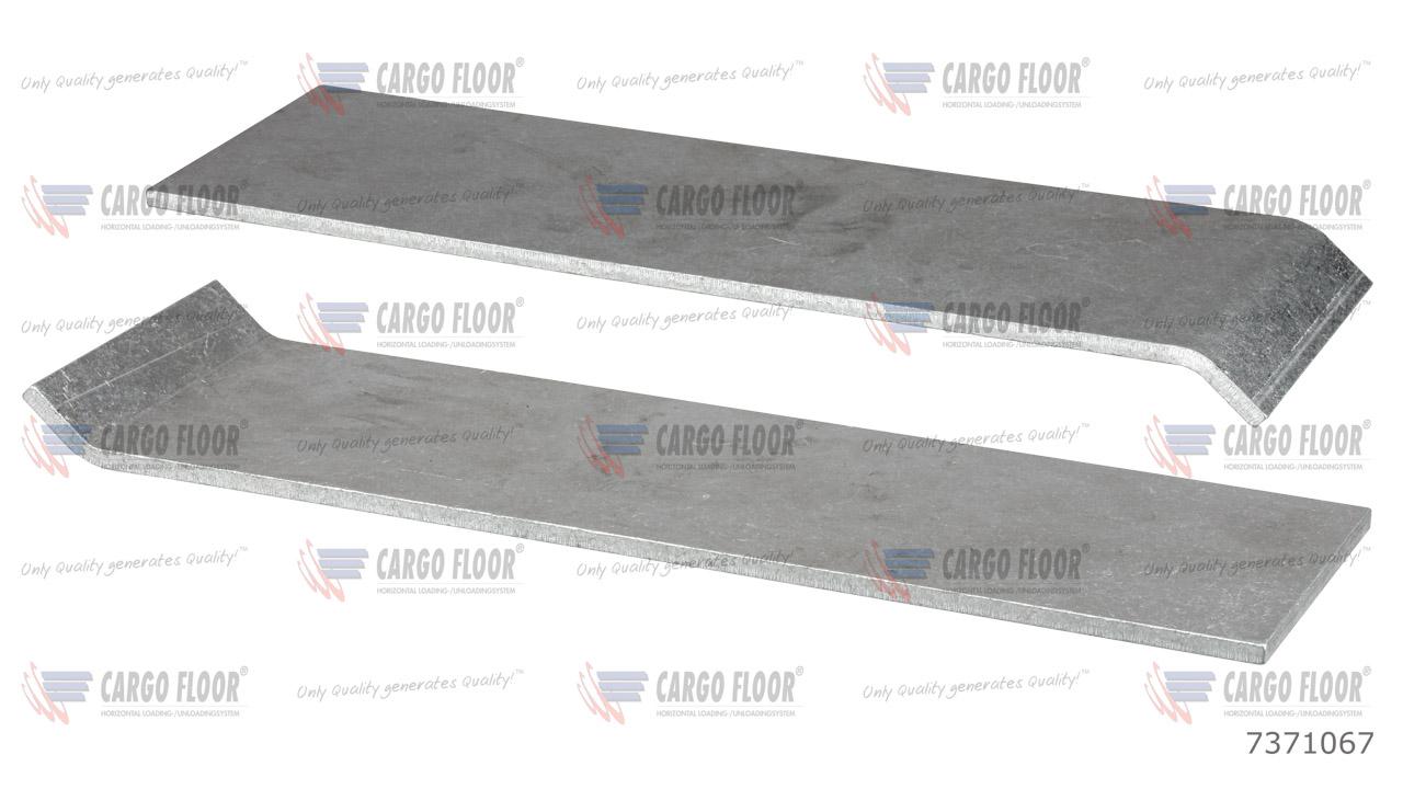 Алюминиевая противоизносная защитная планка 5 мм без отверстий для сварки (156,8мм HD) арт. CargoFloor 7371067