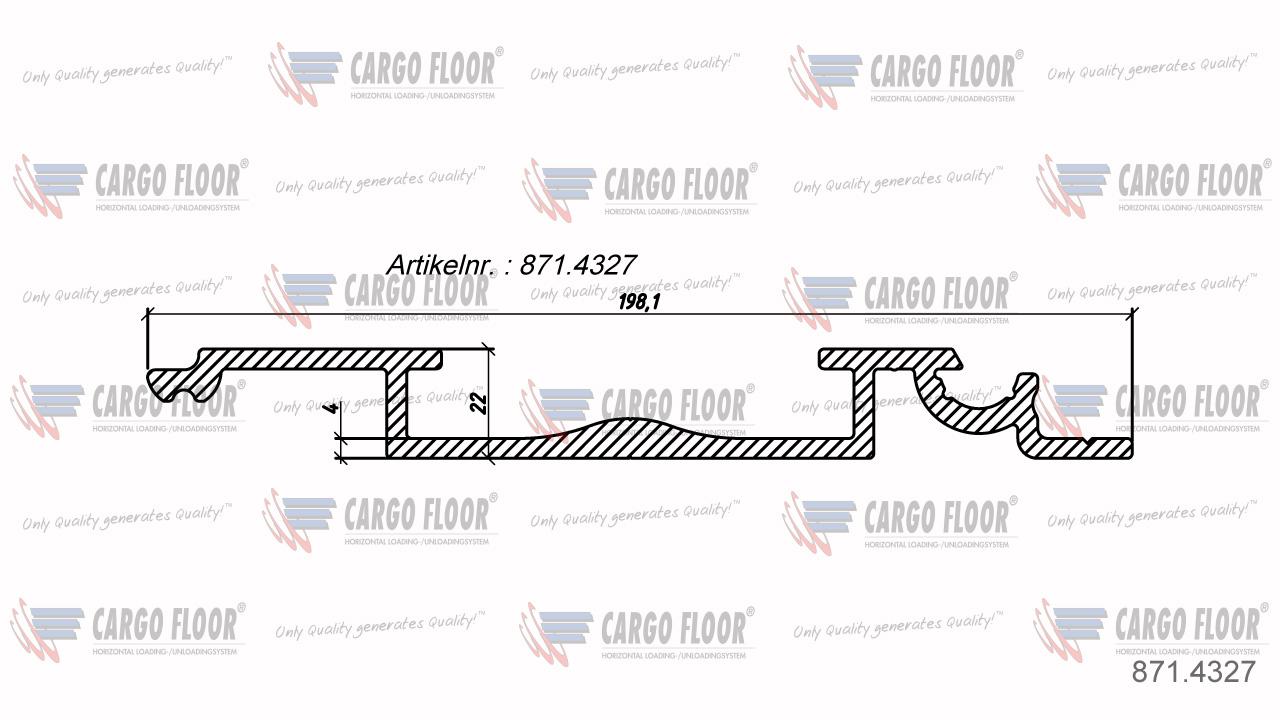 Алюминиевый герметичный Т-образный подрамник 8/160мм (с поворотом) арт. CargoFloor 871.4327